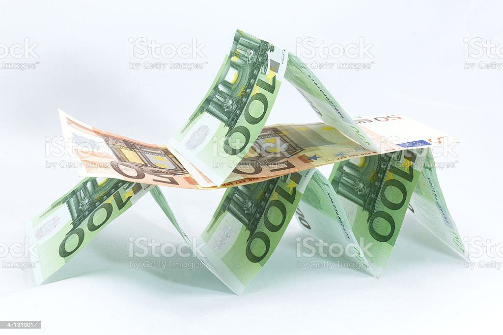 Euro currency. Rising a castle royalty-free stock photo