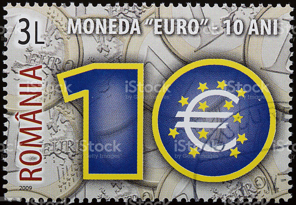 Euro currency stamp royalty free stockfoto