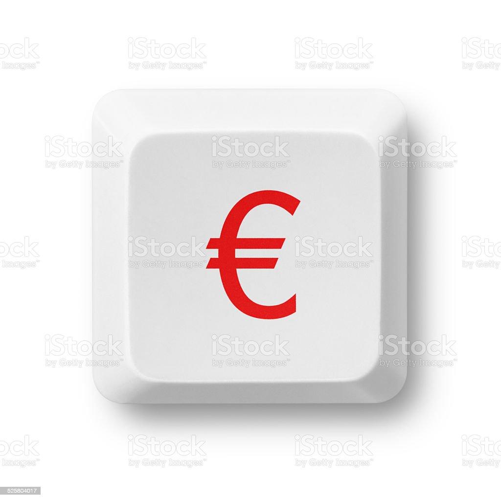 Symbol Waluty Euro Komputera Klucz Na Biaym Tle Stockowe Zdjcia