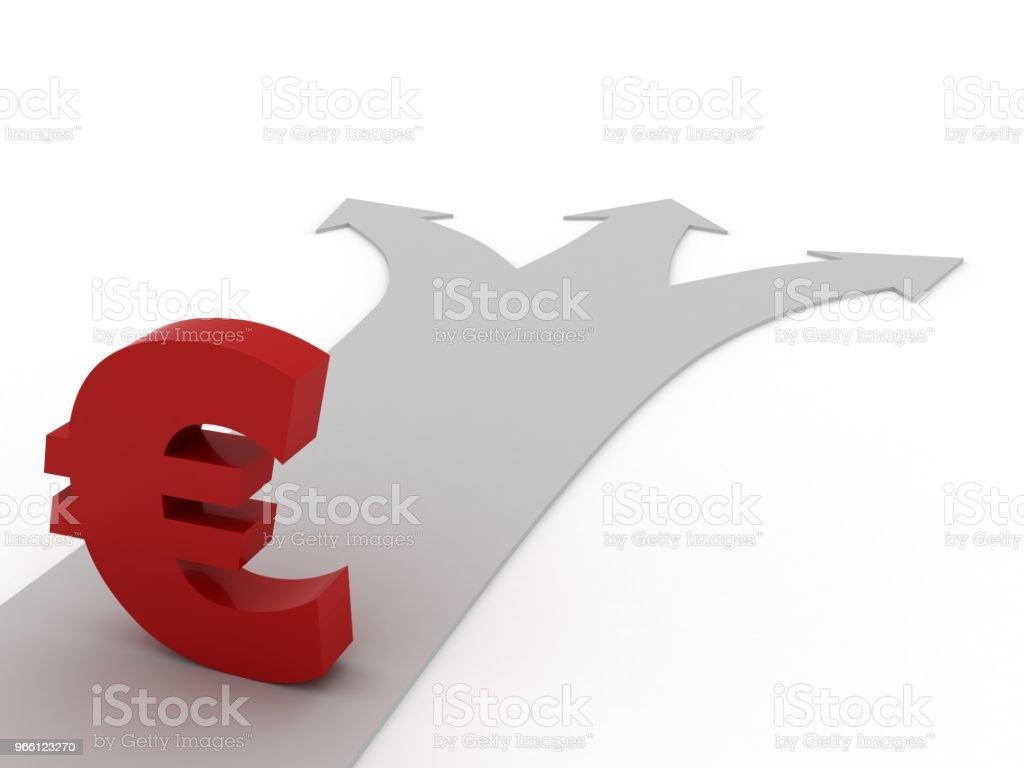 Euro currency symbol finance crisis economics choice - Royalty-free Analyzing Stock Photo