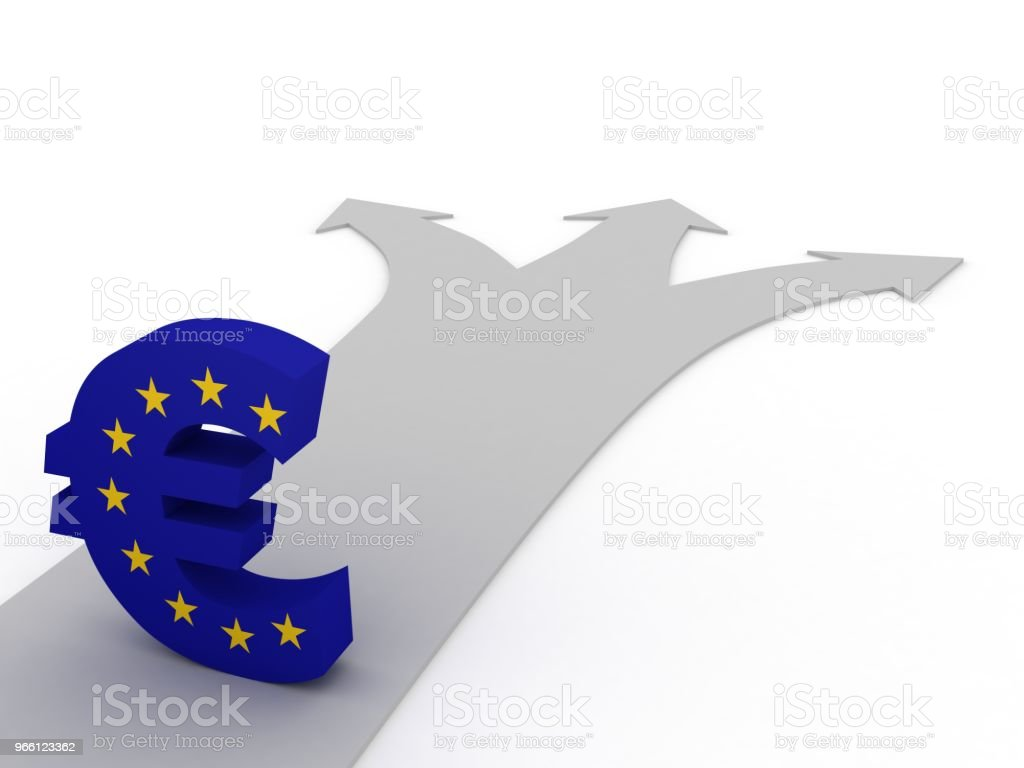 Euro currency symbol finance crisis economics choice - Royalty-free Analyzing Stock Photo