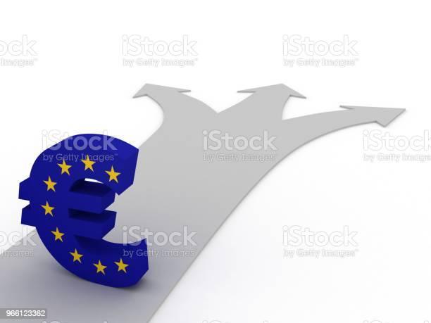 Euron Valuta Symbol Finans Krisen Ekonomi Val-foton och fler bilder på Alternativ