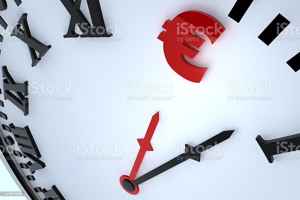 Euro currency symbol royalty-free stock photo