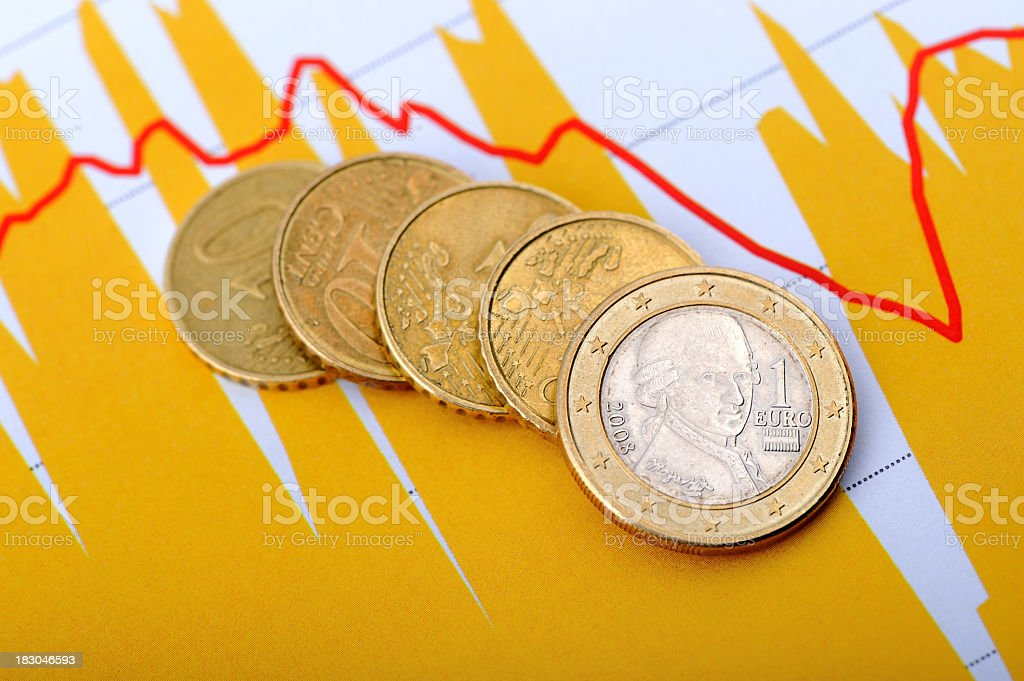 euro currency trading royalty-free stock photo