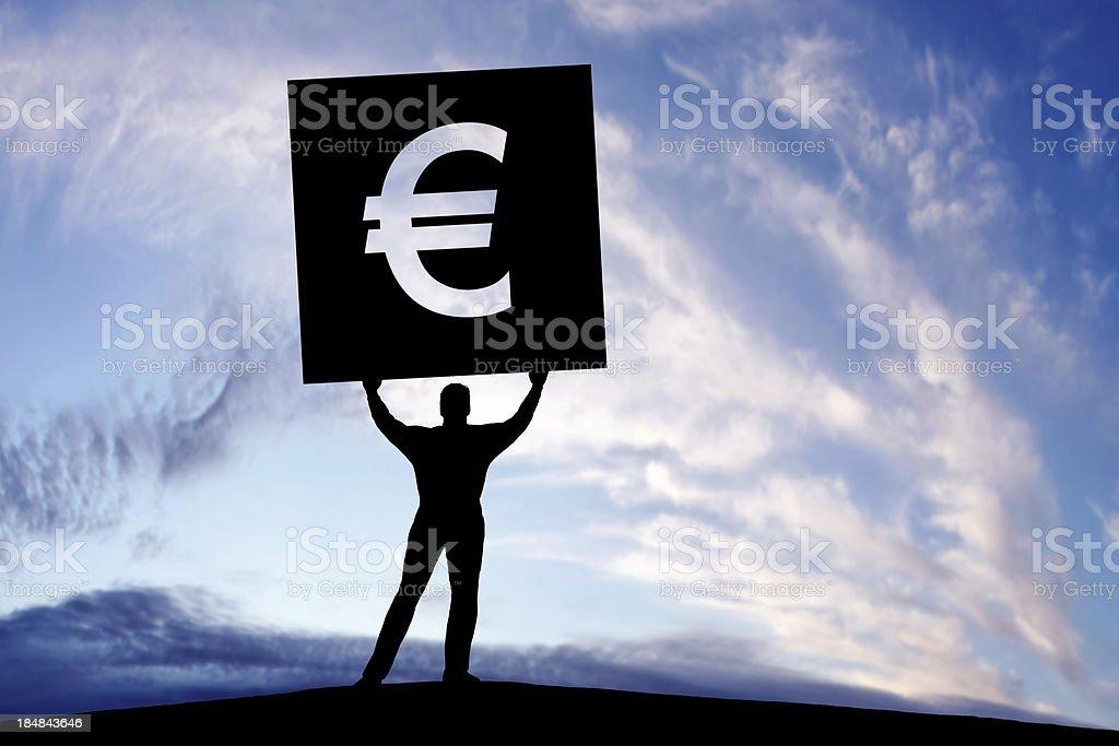 XXXL euro debt crisis protestor royalty-free stock photo