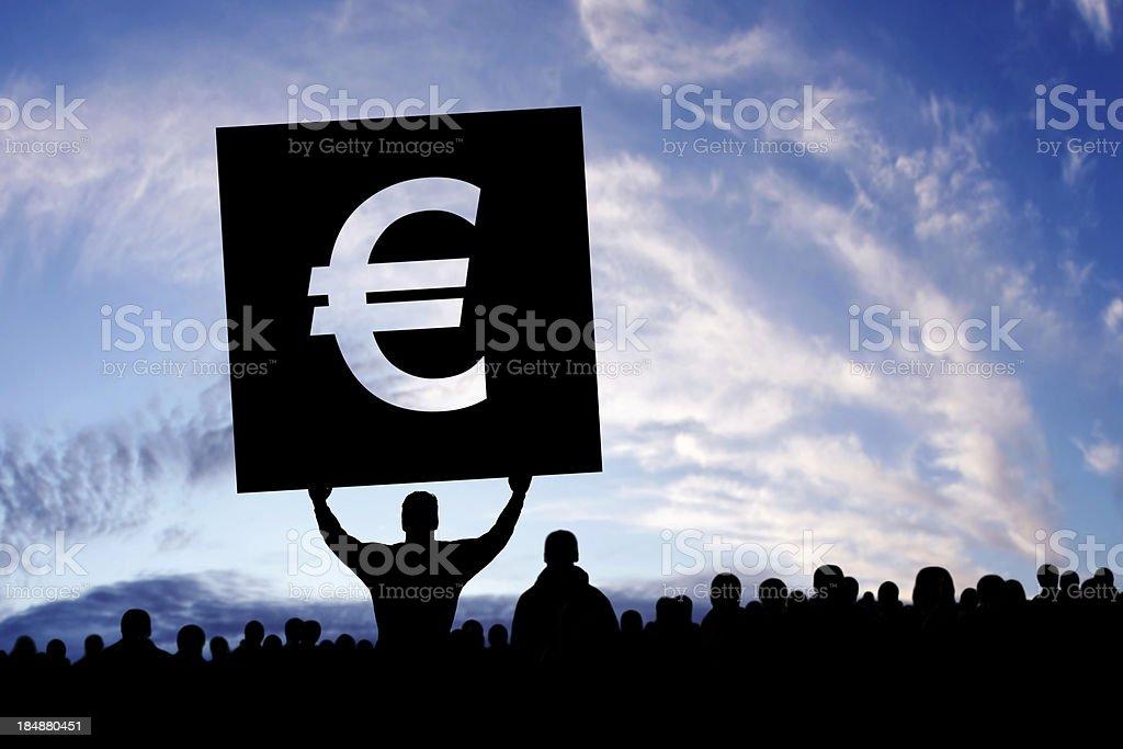 XXXL euro debt crisis protestors royalty-free stock photo