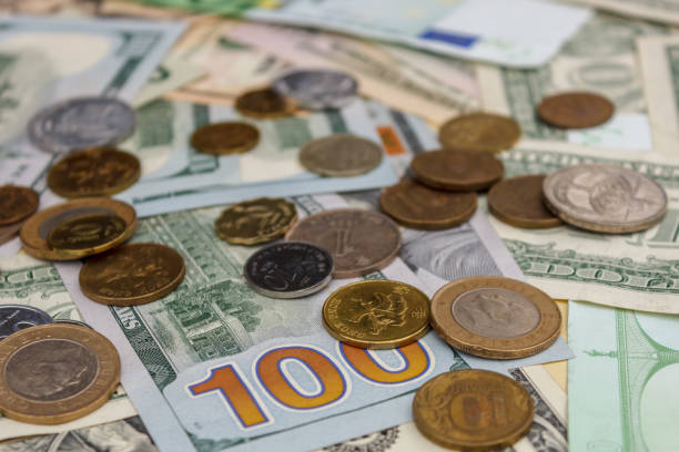 Euro Dollars Money Coins Are Dollar Currency The Concept