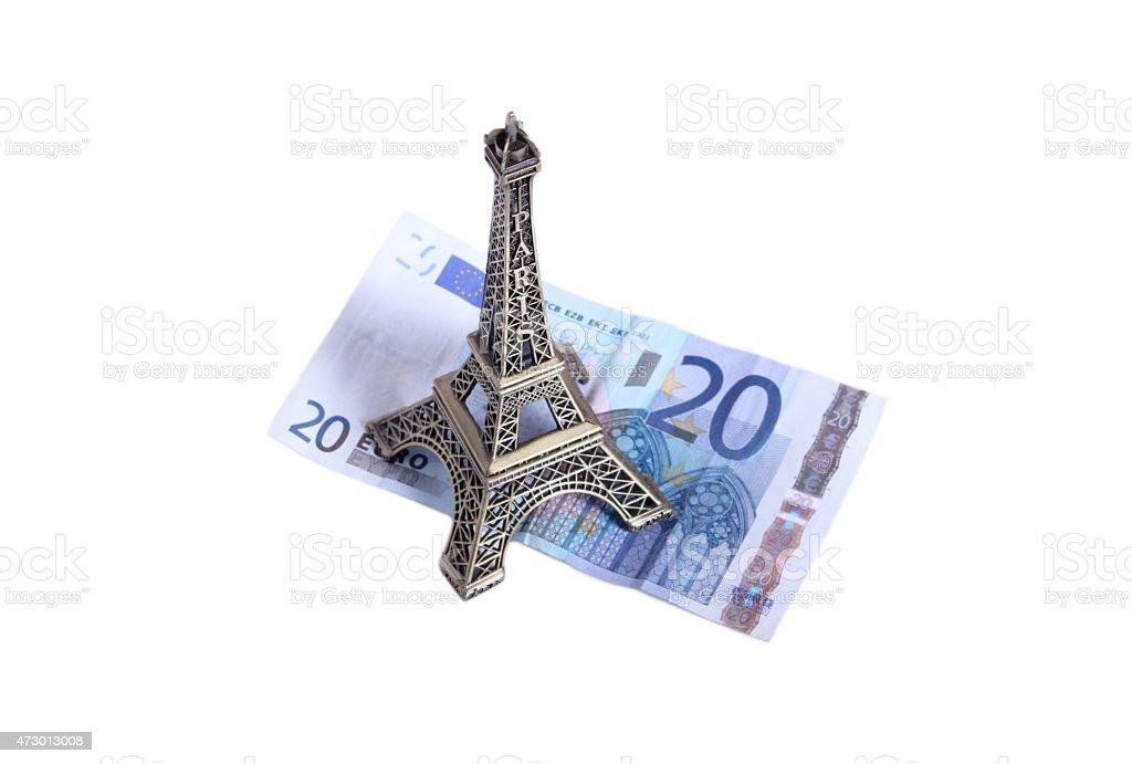 Euro eiffel stock photo