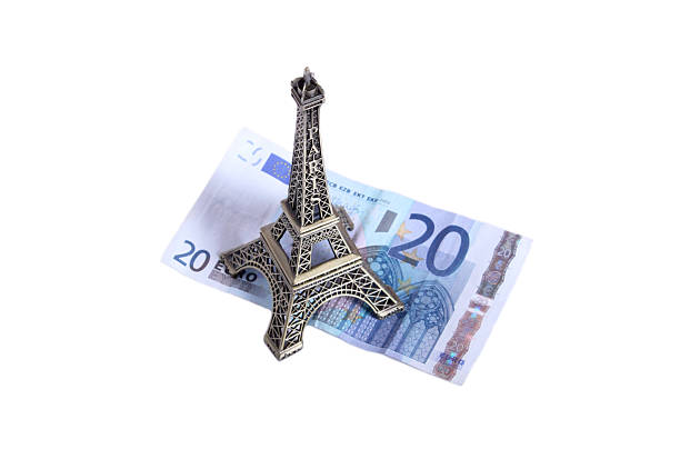 Euro eiffel stock photo