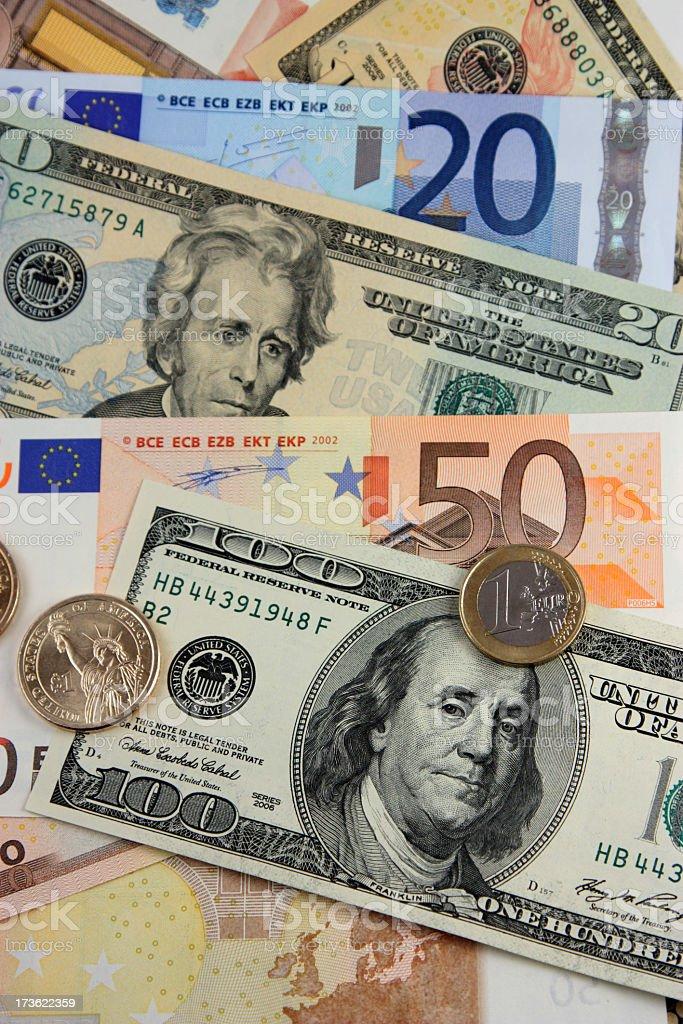 USD Euro exchange stock photo