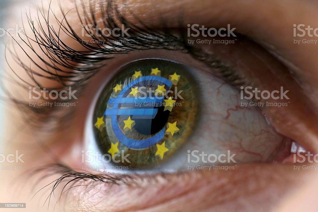 Euro Eye royalty-free stock photo