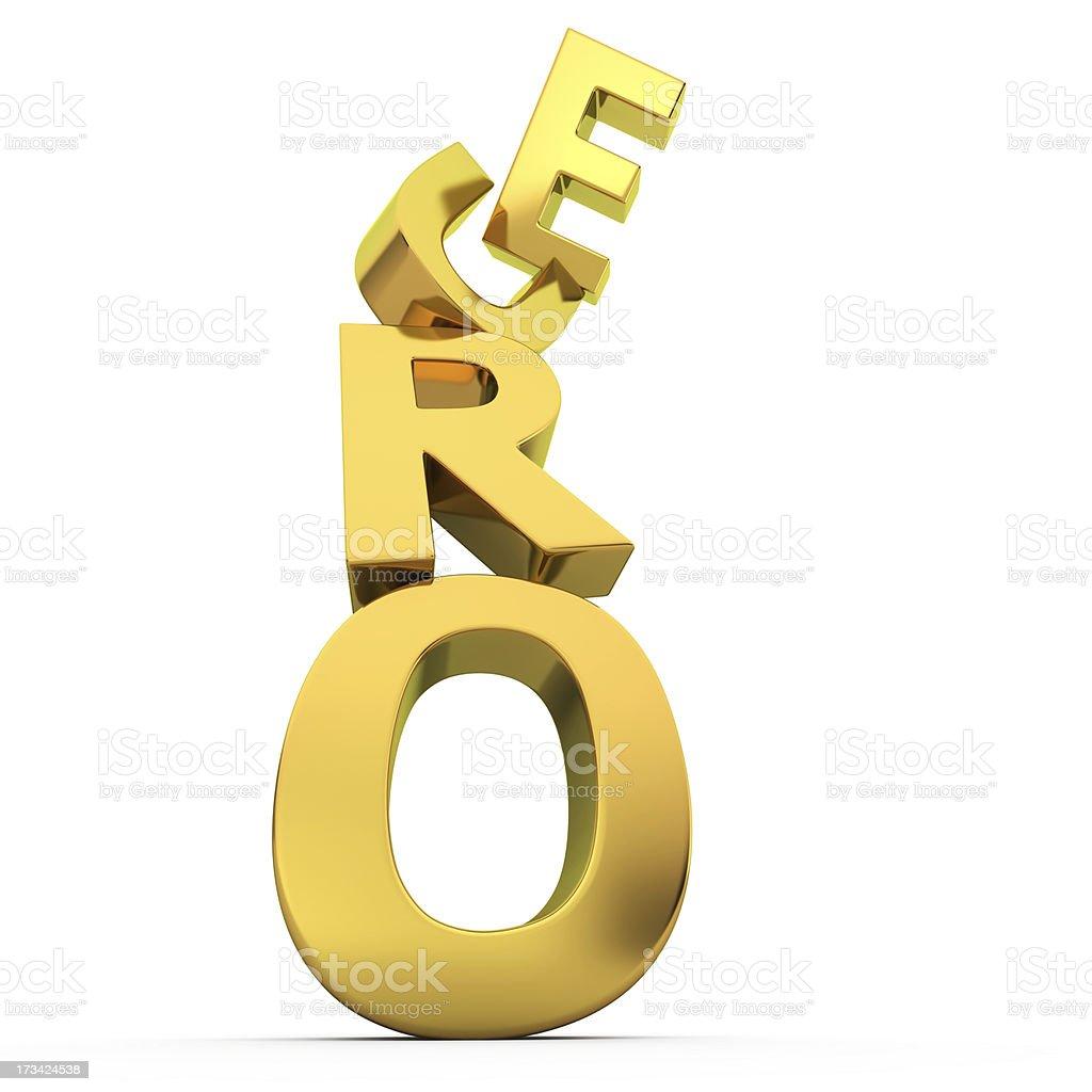 Euro falling royalty-free stock photo
