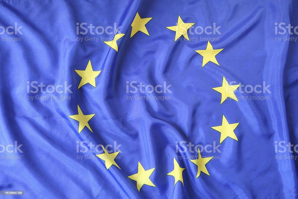 Euro Flag royalty-free stock photo