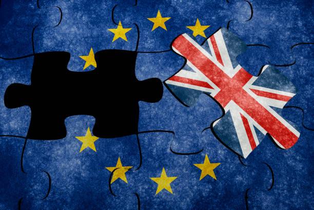 Euro flag puzzle concept - foto stock