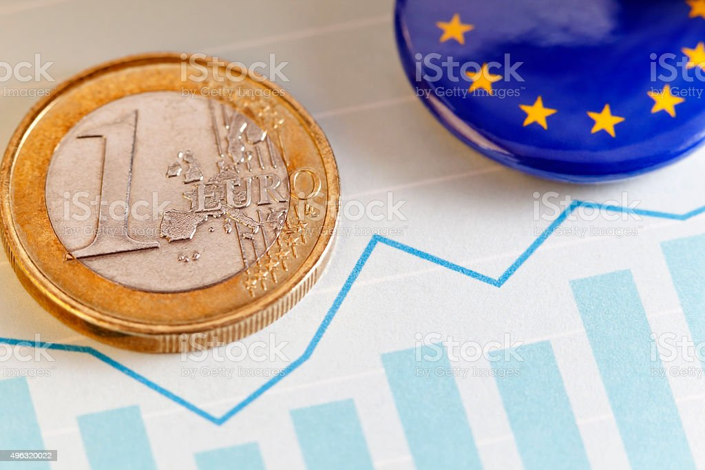 Euro Foreign Exchange Rate stock photo