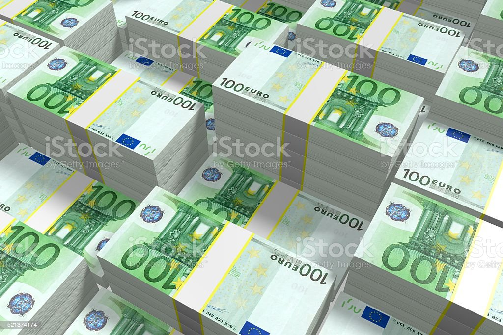 100 Euro - fortune concept stock photo