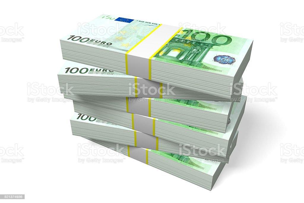 100 Euro - fortune concept stock photo