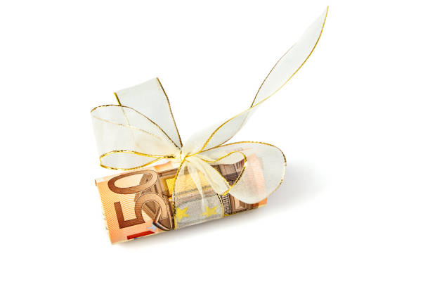 50 Euro gift bundle 50 Euro gift bundle fifty euro banknote stock pictures, royalty-free photos & images