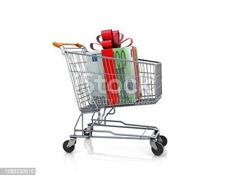 Euro gift in Shopping Cart