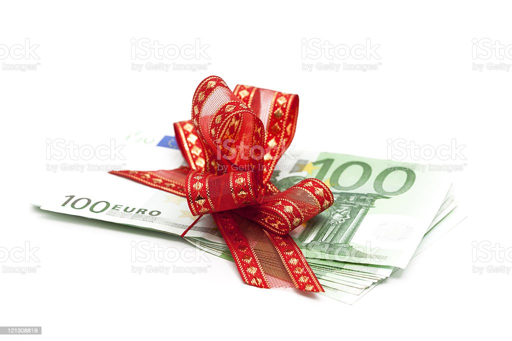 euro gift royalty-free stock photo