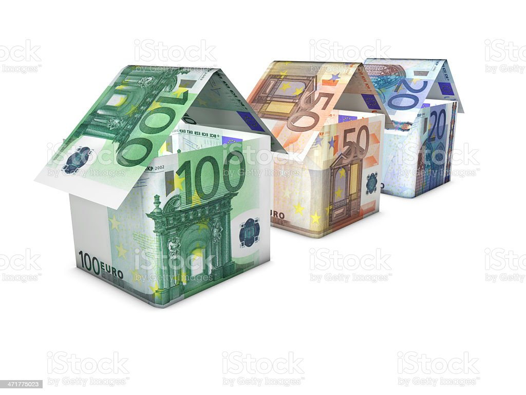 Euro Home And Money Concept royalty-free stock photo