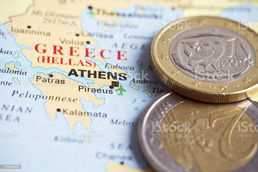 Euro in Greece royalty-free stock photo