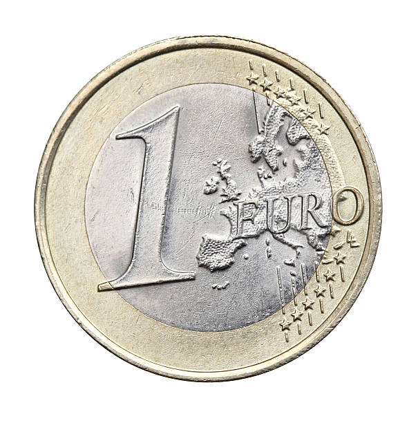 1 euro isolated 1 euro isolated european union coin stock pictures, royalty-free photos & images