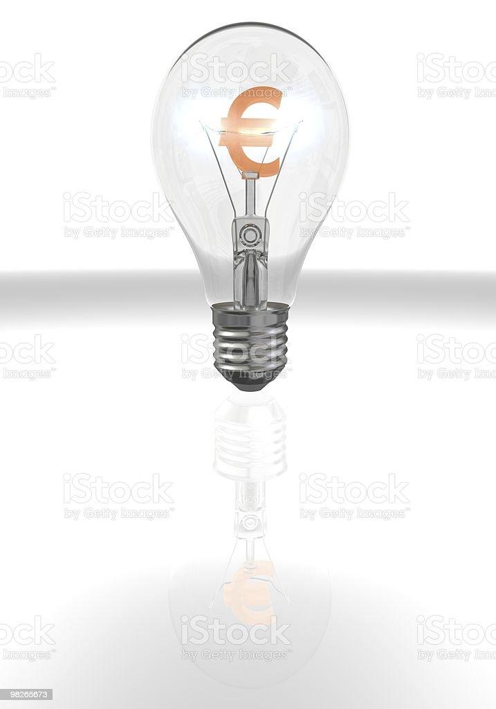 Euro Lamp royalty-free stock photo