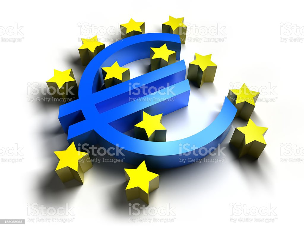 Euro logo, isolated with clipping path royalty-free stock photo