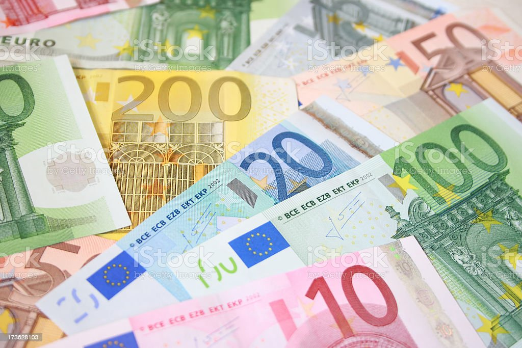 Euro money background stock photo