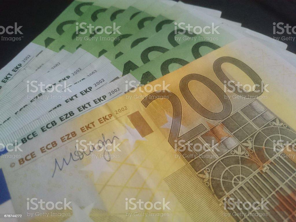 Euro para banknot royalty-free stock photo