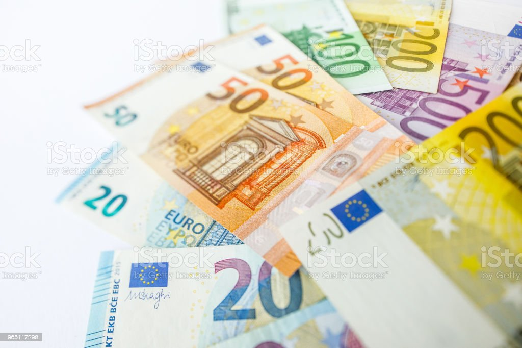 Euro Money. euro cash background. Euro Money Banknotes zbiór zdjęć royalty-free