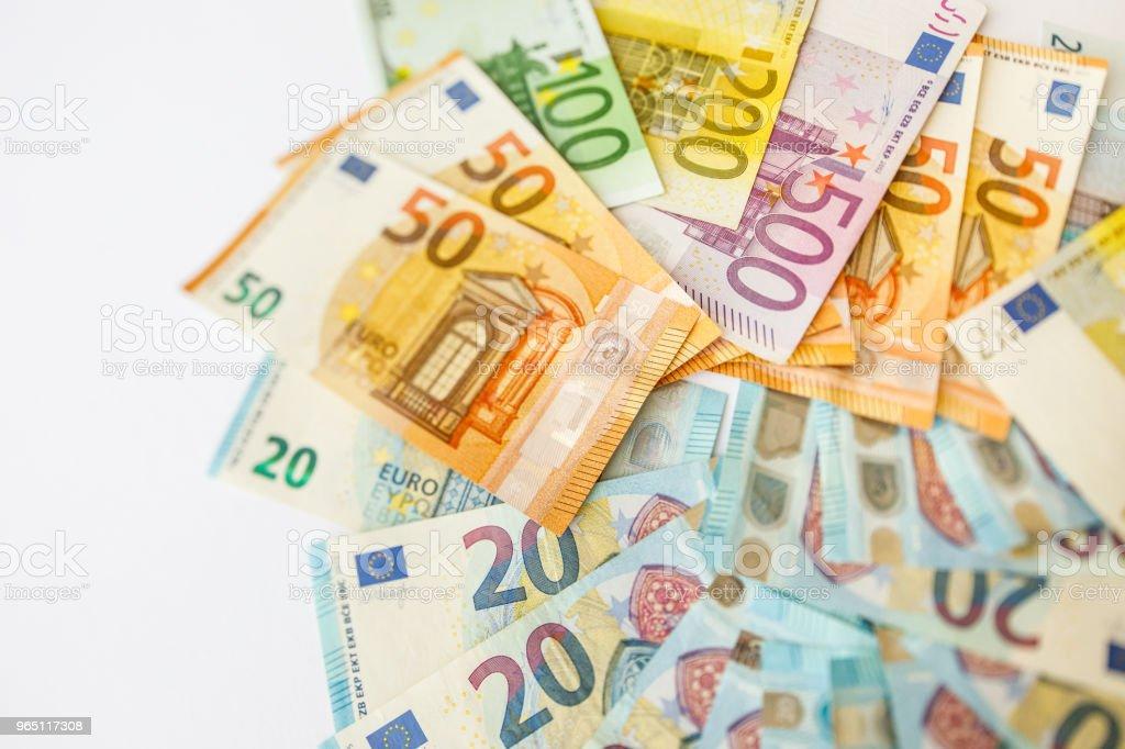 Euro Money. euro cash background. Euro Money Banknotes zbiór zdjęć royalty-free