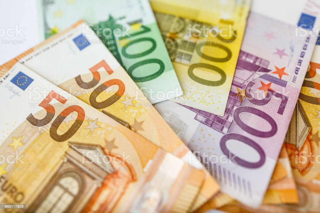 Euro Money. euro cash background. Euro Money Banknotes royalty-free stock photo