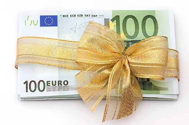 Euro Money Gift stock photo