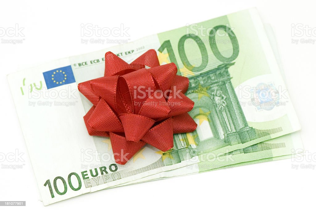 Euro Money Gift royalty-free stock photo