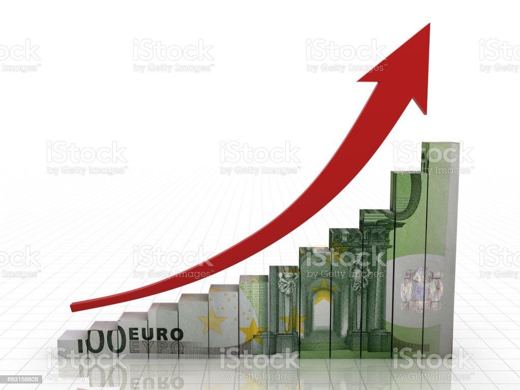 歐元錢圖金融增長的概念 免版稅 stock photo