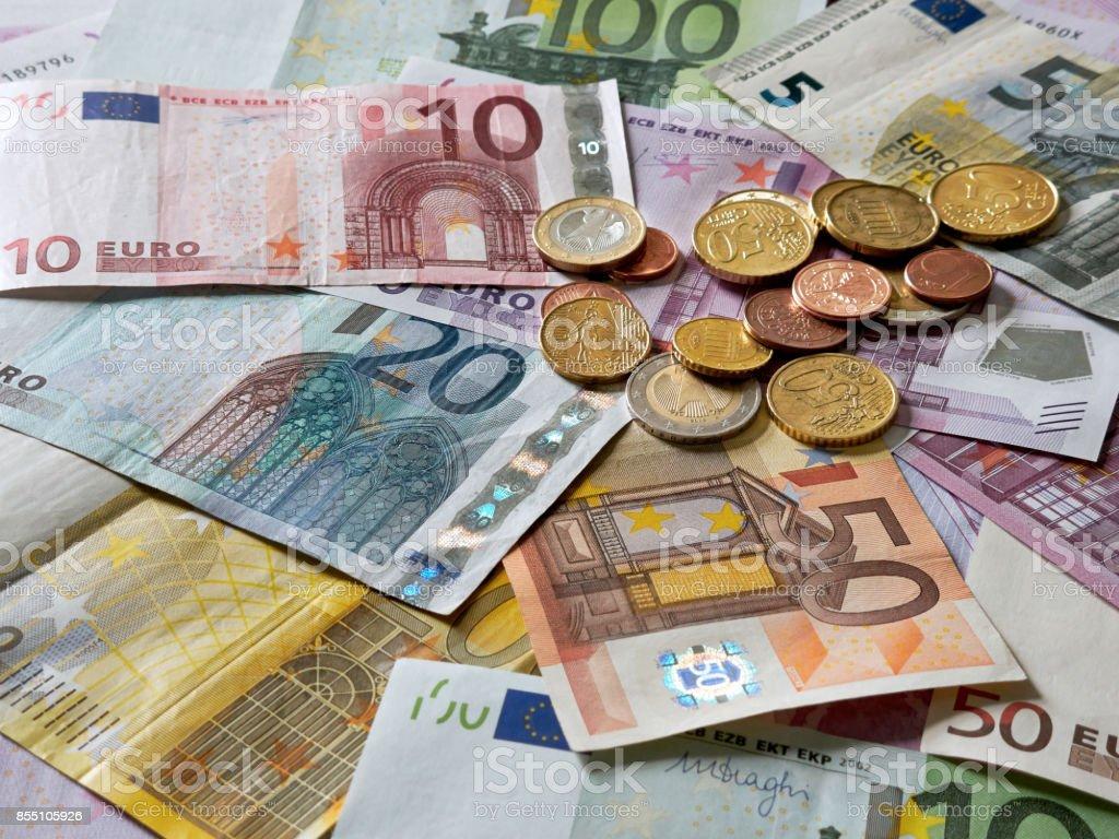 De dinero Euro - foto de stock