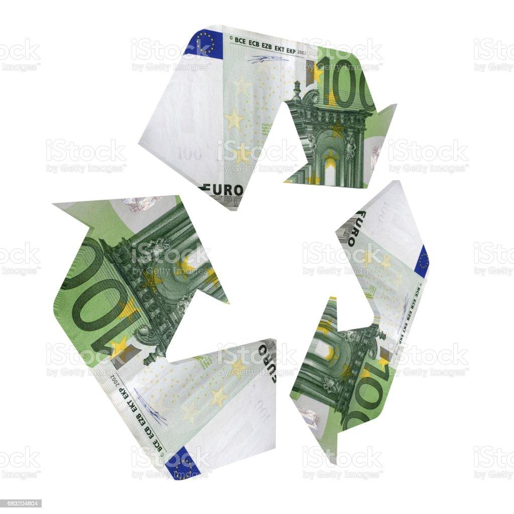 Euro Geld Recycling Symbol Konzept Lizenzfreies stock-foto