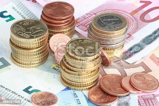 istock Euro money stacks 468491958