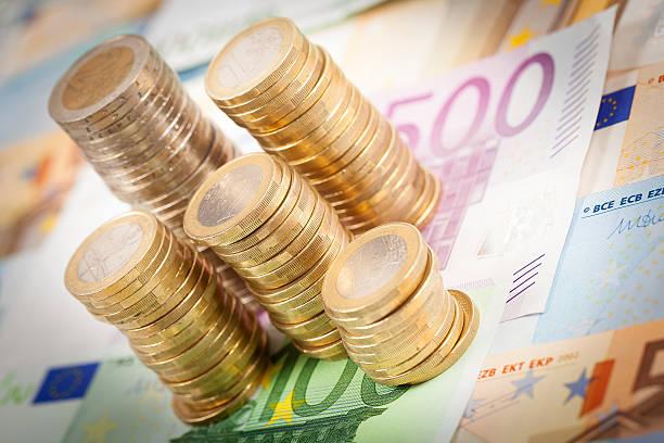 Euro Geld-stacks – Foto