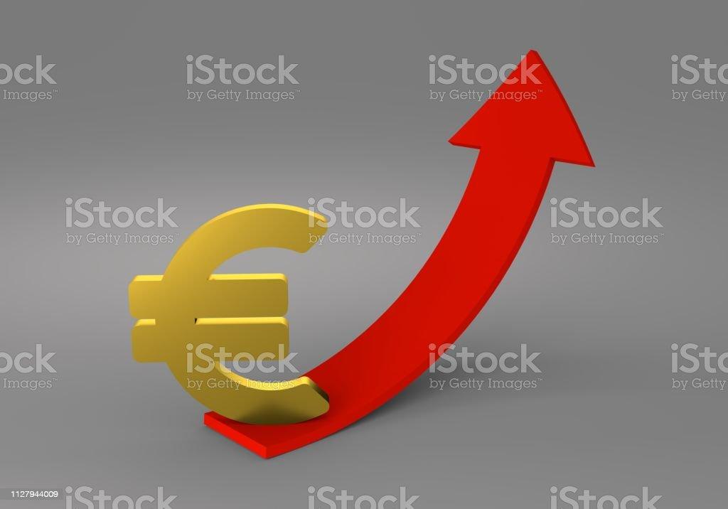 illustration 3d euro money symbol
