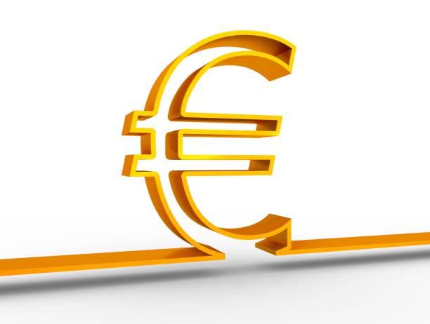 symbole de l'euro argent - icône de ligne photos et images de collection