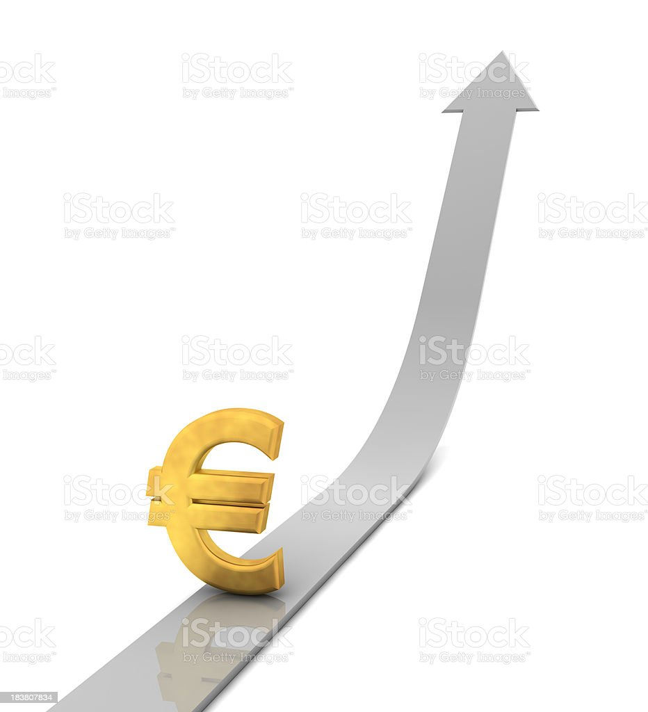 Euro Moving Up royalty-free stock photo
