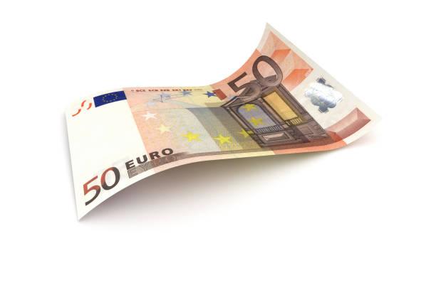 50-Euro-Schein - 3d Visualisierung einer Euro-Banknote – Foto