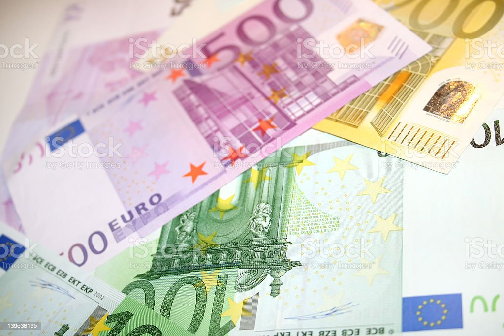 Euro notes 1 royalty-free stock photo