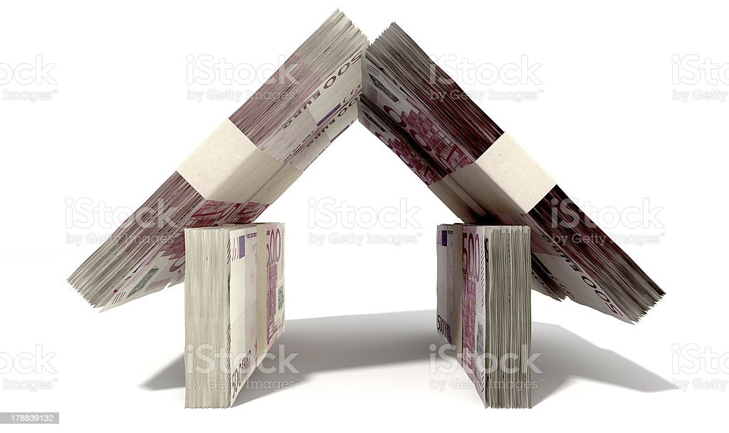 Euro Notes House Front royalty-free stock photo