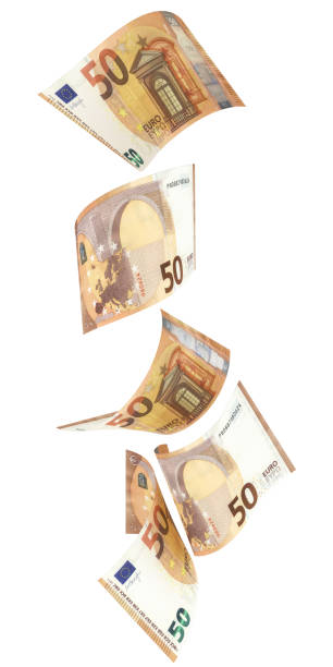 50 Euro (2017) notes in vertical order - 3d illustration 50 Euro (2017) notes in vertical order - 3d illustration fifty euro banknote stock pictures, royalty-free photos & images
