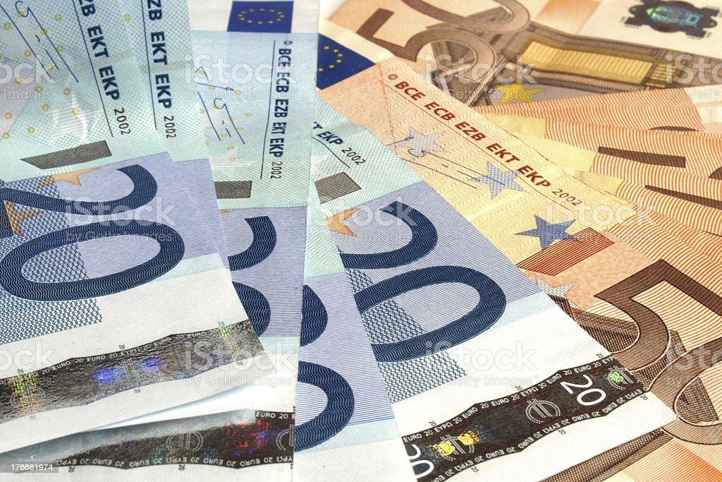 Euro notes royalty-free stock photo