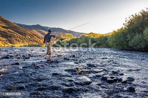 istock Euro Nymphing Fisherman 1180632409